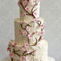 Tree Trunk, Cherry Blossom Wedding Cake Tree Trunk, Cherry blossom Wedding cakeButtercream