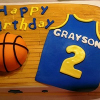 Basketball Cake Made for an all star's 2nd birthday