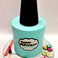 Spa Party  Happy 1st birthday, Oaklie!! Butter pecan cake with butter pecan buttercream filling and vanilla bean cake filled with buttercream. Cake is...