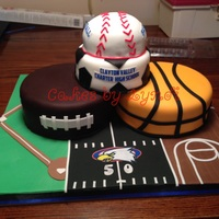 Sports Made this cake to auction off to help raise money for my son's school.