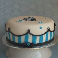 Stripes And Bird Cage Fondant and royal icing stencil.