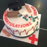 Doctors Graduation Cake Made for a graduation celebration.