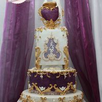 Rococo Purple Wedding Cake Thank you Cake Central, for the honor to publish my cake!