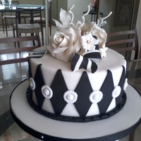 Black And White Simple Elegance A Black and White color scheme will make any simple cake design elegant. This cake is evidence of that. Diamond patterns will never go out...