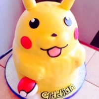 Pikachu fondant covered Pikachu, with RKT pokeball
