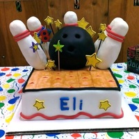 Bowling Cake Made for a birthday party at the bowling ally