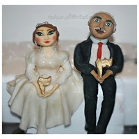 Bride And Groom Figure Made for a 23rd anniversary cake