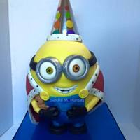 Bob Minion 3D Cake Fondant Minion Cake, chocolate cake with chocolate ganache.