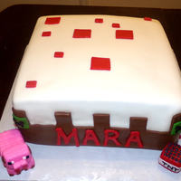 Mine Craft Cake   mine craft birthday cake