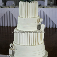 Pleats And Bands Wedding Cake Pleats and Bands Wedding Cake - PJ x