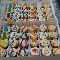 School Themed Cupcakes Children ready to have fun