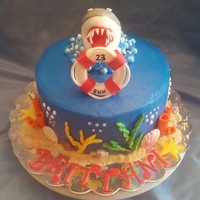 Shark!!! Birthday cake for a friend's daughter.