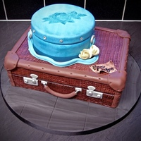 Suitcase Cake Suitcase cake for some people who are leaving work.