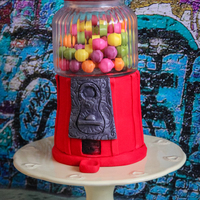 Old Fashioned Gumball Machine Cake an old fashion gumball machine cake i made for fun :)