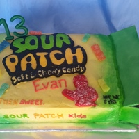 Sour Patch Kids Sour Patch Kids birthday cake