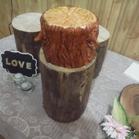Tree Themed Wedding   A wedding cake for a wedding with a tree/wood theme. This was a lot of fun to do.