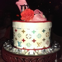 Louis Vuitton Hat Box Cake 3 layers Red velvet with Cream Cheese Filing