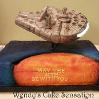 Millennium Falcon Cake   May the 40th Be With You!! Birthday cake for a Star Wars fan.