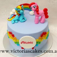 My Little Pony Rainbow Birthday Cake My little pony themed cake with rainbow.Visit my facebook page for more pictures https://www.facebook.com/victoriascakes.com.au