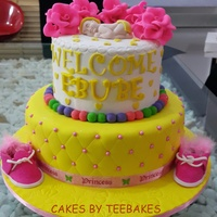 Baby Dedication Cake A 2-TIER RICH FRUIT CAKE FOR ONE OF THE WORLD'S CUTEST BABY GIRL!!