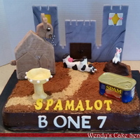 Spamalot The Musical, Cast Party Cake   Monty Python's Spamalot. This is the Cast Party Cake I made for our rap up party.