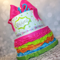 Rainbow Ruffle Cake I created this cake for an Icing Smiles child that was celebrating her 12th Birthday. The Birthday girl wanted something bright and fun for...