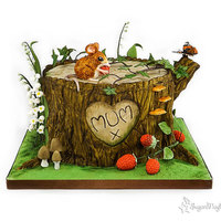 Overgrown Tree Stump This is another mothers day cake for my lovely mum.......she didnt want to cut it, and still has the mouse!