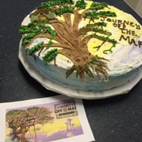 Vbs Tree House Cake This years VBS theme was Journey off the map. I made a 16 inch, similar tree with tree house for our Family Night.Funfetti cake, with...