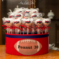 Buffalo Bills Cake Pops Buffalo Bills cake pops for a birthday. Let's go Buffalo!