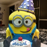Minion Cake   For my nephew's birthday.
