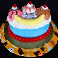 Ice Cream Sundae Cake I made this cake for my birthday this year as a tandem to the cupcakes I made to take to work (also posted in my gallery). My fav cake is...
