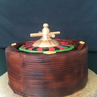 Roulette Wheel Cake Made for a 50th birthday, this cake spins like a real roulette wheel.