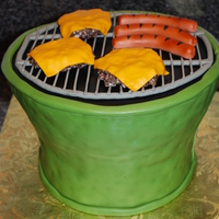Green Egg Grill Fondant decorations