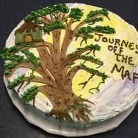 Vbs Tree House 2015 This 16 in round cake was made for Vacation Bible School. The Funfetti cake with buttercream icing, and fondant tree trunk was devoured by...