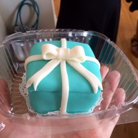 Tiffany Box Cupcakes Made for daughters bachelorette party.