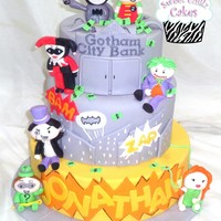 Batman Cake  My son requested one of Little Cherry Cake Companys Batman cakes for his birthday. I had a blast making it with a few minor tweaks of...