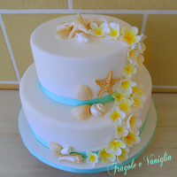 Birthday Cake With Shells And Frangipani Birthday cake with shells and frangipani