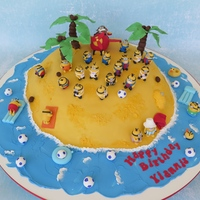 Minion Island I was asked to make a cake with an airplane and minions playing football. Just what I love: telling a story with lots of cute characters. I...