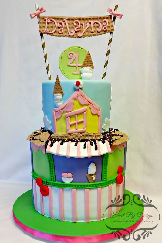 Ice Cream Shop Birthday Cake This cake was for a girl who was having a Lalaloopsy themed party. She wanted Scoops Waffle Cone as the character on the cake, so I...