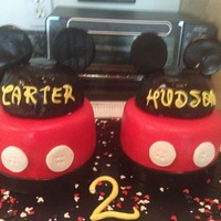Mickey Mouse For Twins Mouse ears for twin boys