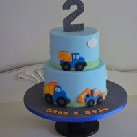 Construction Cake To celebrate the second birthday of our favorite twins!