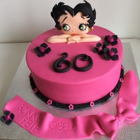 Betty Boop Cake   I just Loved making that cake!!