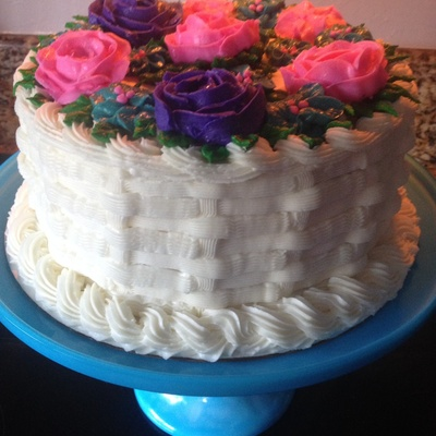 Buttercream Roses And Basketweave