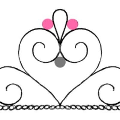 Tiara (Crown) Cupcake Template