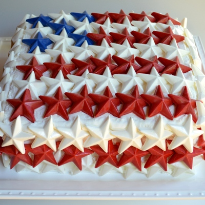 Patriotic Flag Of Chocolate Stars