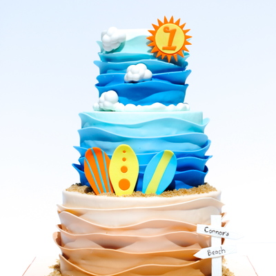 Surf's Up Birthday Cake