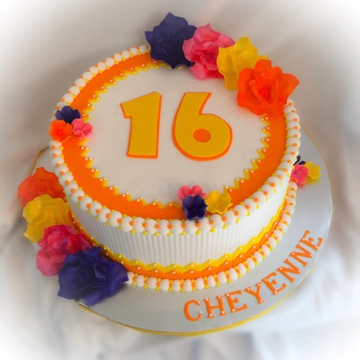 Hawaiian Themed Sweet 16 Cake