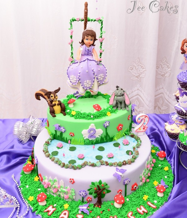Sofia The First In Swing Cake