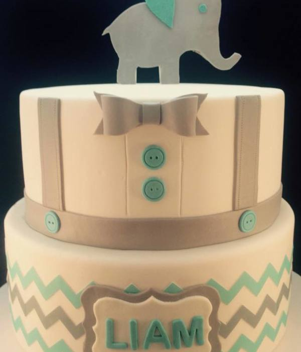 Teal And Grey Baby Shower