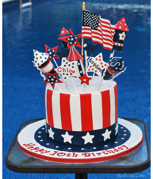 Inventive Independence Day 4th Of July Cakes CakeCentralcom